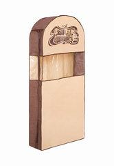 чехол для одежды двойной длинный 130х60х20, шоколадный париж