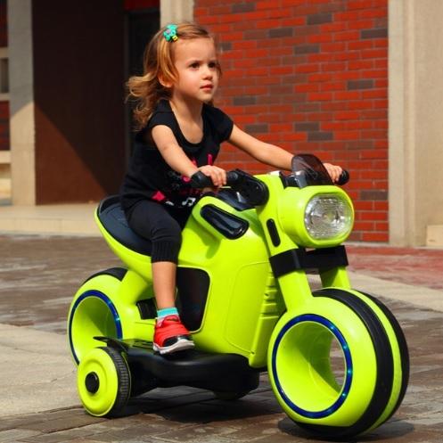Мотоцикл детский зеленый