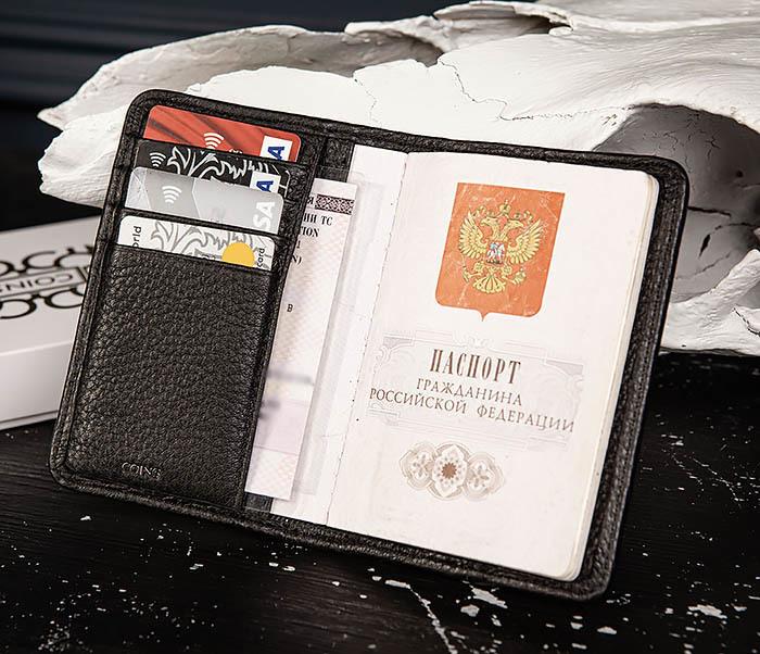 BC216-4 Обложка из кожи «Onyx» для паспорта и карт