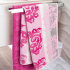 Полотенце 80х150 Cawo Noblesse 1057 Cashmere Jaquard розовое