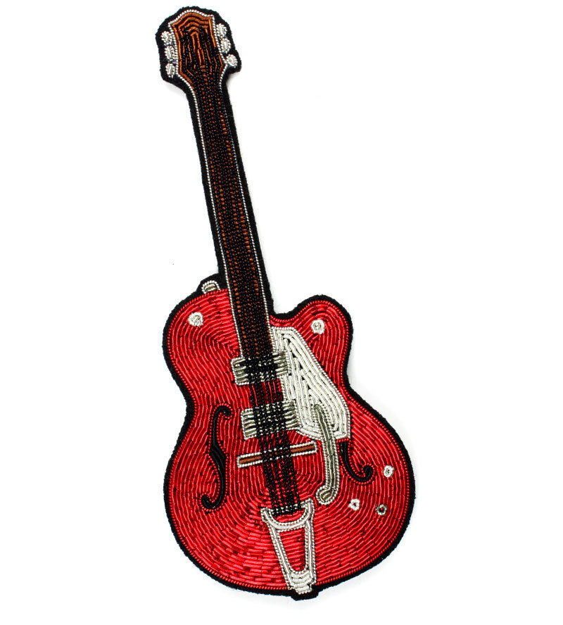Брошь  Red Guitar Large