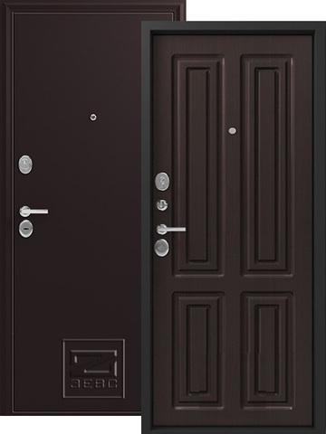 Дверь входная Зевс Z-6, 2 замка, 2 мм  металл, (шёлк бордо+венге шёлк)