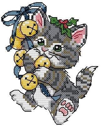 Набор для вышивания  Рождественские котята. Merry Kittens. Арт. 8519