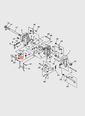 Рычаг наклона  для лодочного мотора T15, OTH 9,9 SEA-PRO