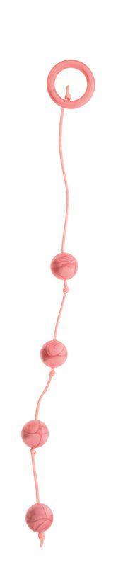Анальные шарики, цепочки: Перламутровые анальные шарики среднего размера