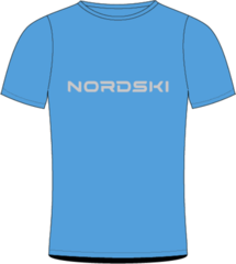 Футболка Nordski Logo Light Blue мужская