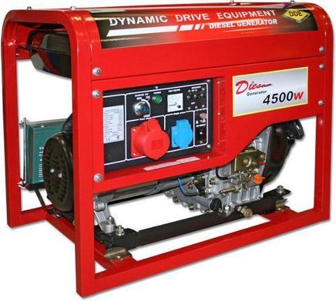 Генератор дизельный DDE DDG6000-3E (1+3ф 5,5/6,0 кВт бак 11,5 л 99 кг дв-ль 10 л.с. элстарт)