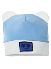 10104-1 шапка для мальчиков, бело-голубая