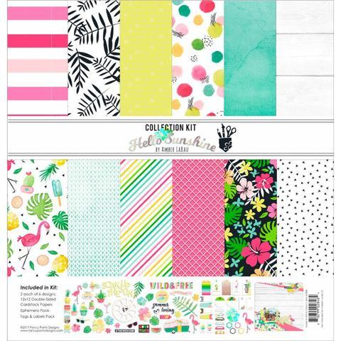 Набор бумаги 30х30см и украшений Fancy Pants Designs Collection Kit -Hello Sunshine