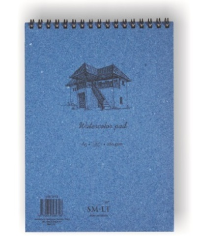 Скетчбук для акварели SM-LT Authentic Watercolor, А5, 20 листов, спираль по короткой стороне