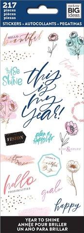 Блокнот со стикерами-Happy Planner Sticker Sheets-Year To Shine, 217 шт