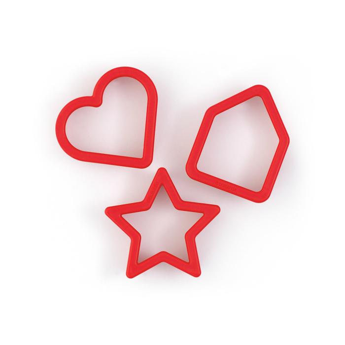 Набор формочек для печенья (3шт), красный, арт. 105227 - фото 1