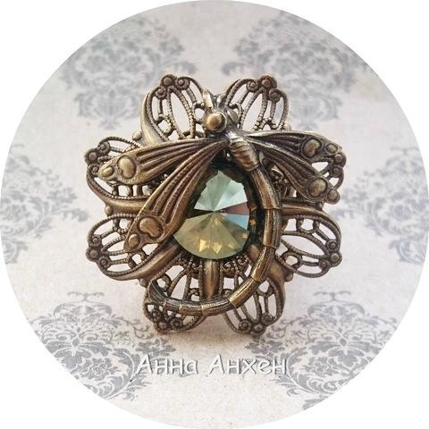 Комплект для создания винтажного кольца со стрекозой ()