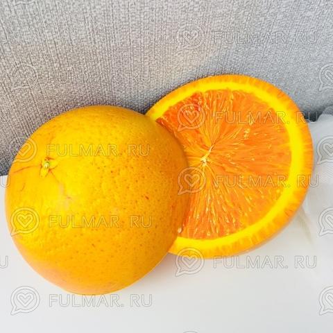 Сквиши Апельсин 2 сочные дольки Антистресс игрушка