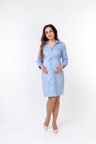 Платье для беременных 05529 голубой
