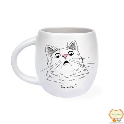 Чашка Удивленный кот
