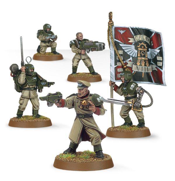 Cadian Command Squad. Весь отряд