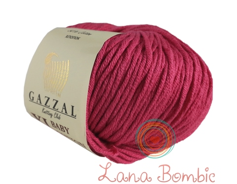 Пряжа Gazzal Baby Cotton XL малина 3415