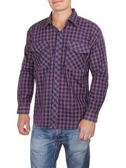 685-1 рубашка мужская, синяя