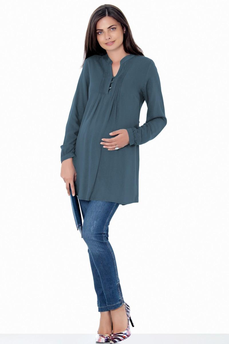 Блузка 01384 серый