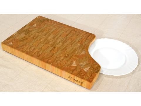 деревянная Торцевая разделочная доска 45х30х4 см лиственница