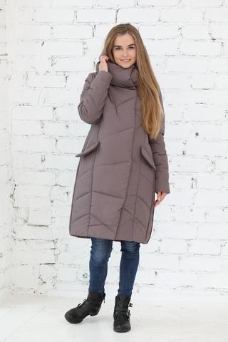 Куртка для беременных 10838 кофейный