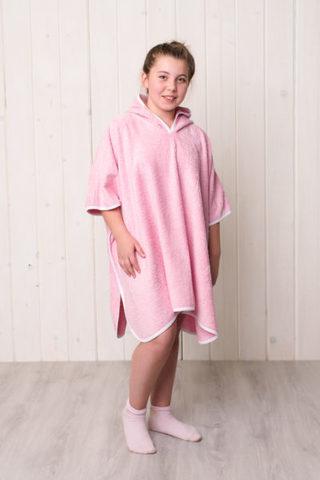 Детский халат пончо (Розовый)