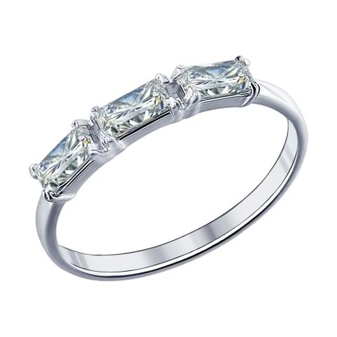 Кольцо дорожка  из серебра с фианитами арт.94011441