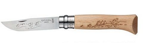 Нож складной Opinel №8 VRI Animalia Cyclists (велосипедисты)