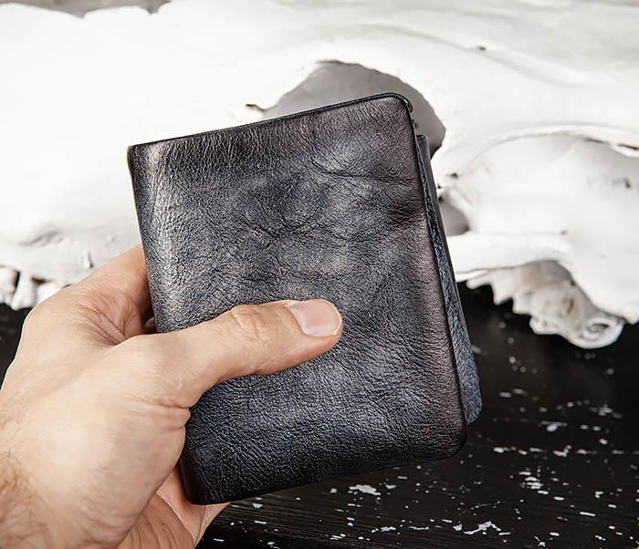 WL329-3 Мужское портмоне из натуральной кожи с монетницей фото 10