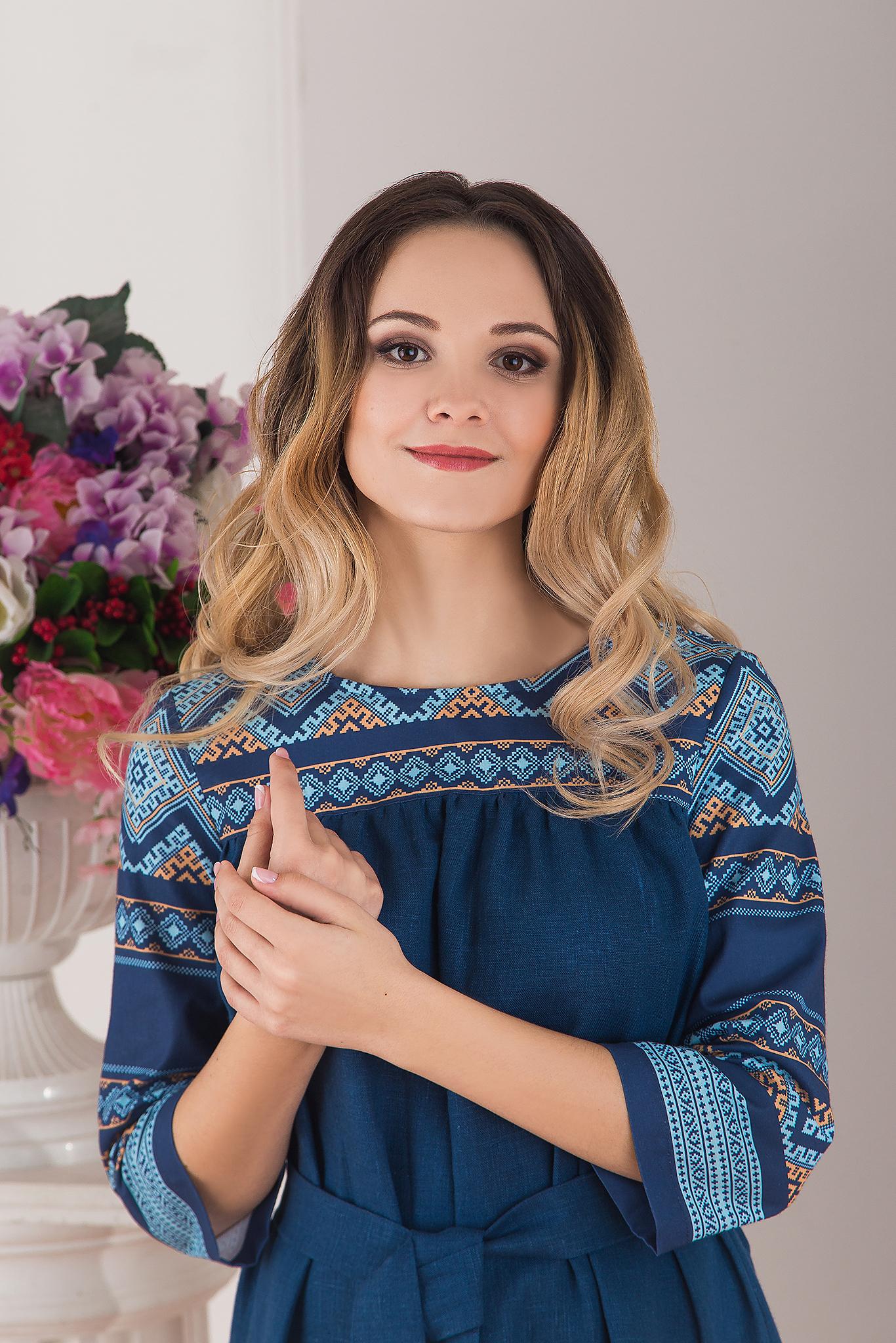 Славянское обережное платье Каспийское