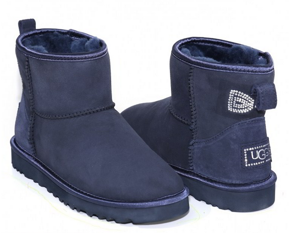 UGG Classic Mini Crystal Bow Navy