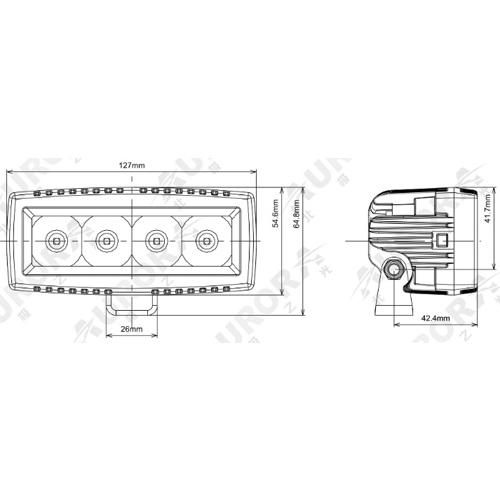 Светодиодная LED фара панорамного света 20 Вт Аврора фото-1