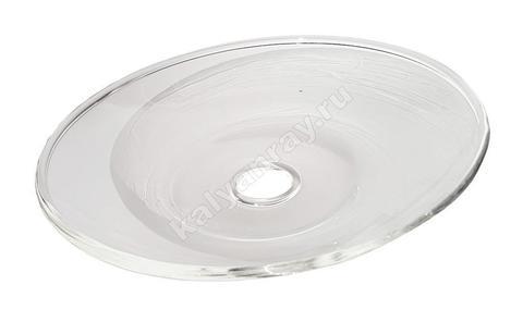 Стеклянная тарелочка для кальяна Фабула
