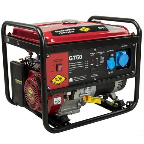Генератор бензиновый DDE G750 (1ф 7,0/7,5 кВт бак 25 л 85 кг дв-ль 15 л.с)