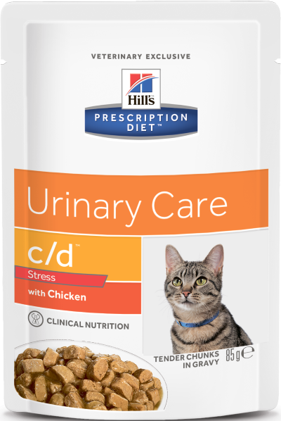 Влажные корма Пауч для кошек Hill`s Prescription Diet с/d Urinary Stress, против стресса при цистите, с курицей цд_стресс.png