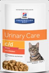 Ветеринарный корм для кошек Hill`s Prescription Diet с/d против стресса при цистите с курицей