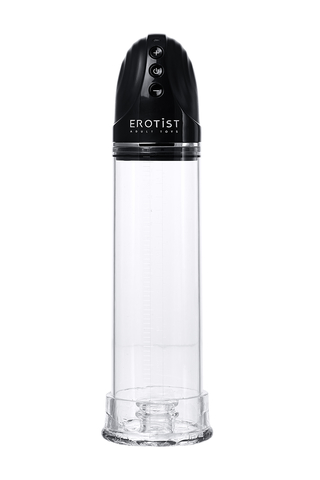 Помпа для пениса Erotist Man up pump, вакуумная, полуавтоматическая, ABS пластик, прозрачная, Ø 8 см