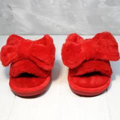 Комнатные тапочки женские красные с бантом Yes Mile A-08 Red Bow