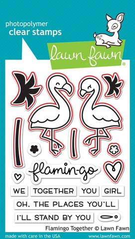 "Набор штампов с координирующими НОЖАМИ  ""flamingo together - lawn cuts"""