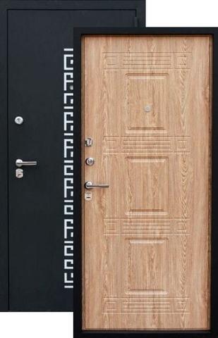Дверь входная Зевс Z-5 Греция, 2 замка, 1,5 мм  металл, (чёрный шёлк+ель карпатская)