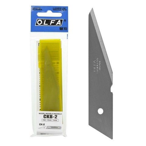 Лезвие OLFA из нержавеющей стали для OL-CK-2, 105х20х1,2мм, 2шт