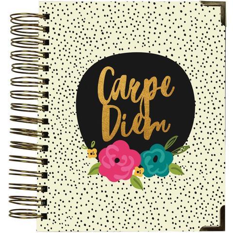 Ежедневник на пружине-  Carpe Diem Spiral 16-Month Dated Weekly Planner - 18х22 см -Good Vibes