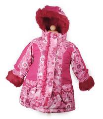 BabyCaravan, Пальто зимнее (малиновый принт)