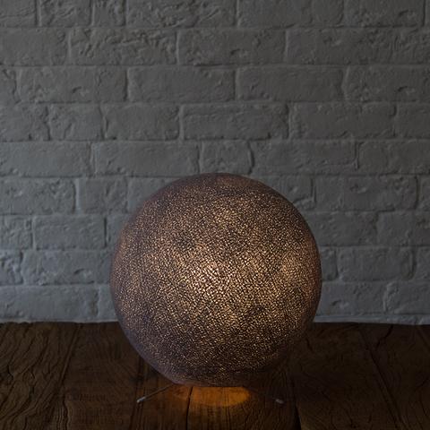 Хлопковый светильник темно-серый