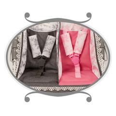 DeCuevas Трехколесная коляска-трость для кукол-двойни