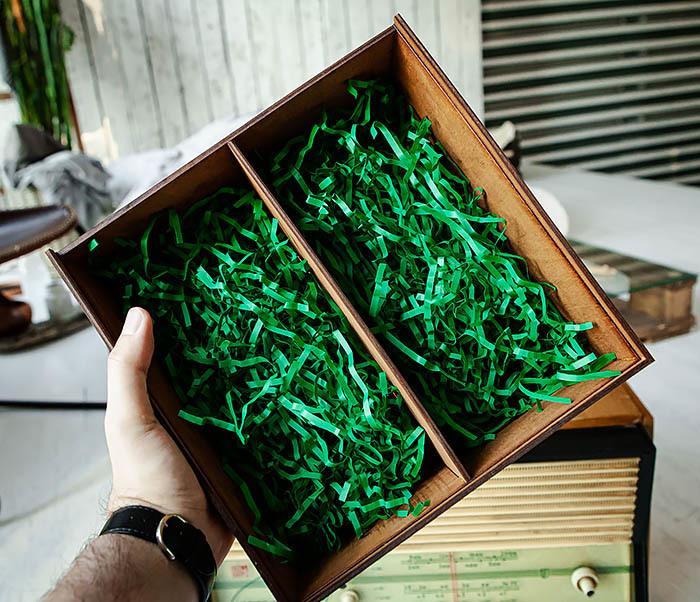 BOX252-2 Большая подарочная коробка ручной работы со львом (25*25*12 см) фото 09