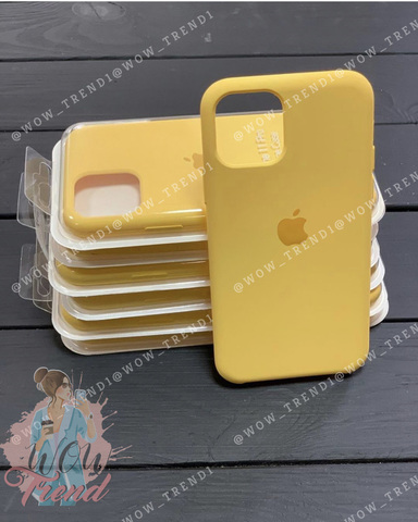 Чехол iPhone 11 Pro Silicone Case /canary yellow/ канареечный 1:1