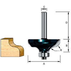 Фрезы кромочные фасонные(S-образные) 31,8*32*12,7*8; R=4,76 мм
