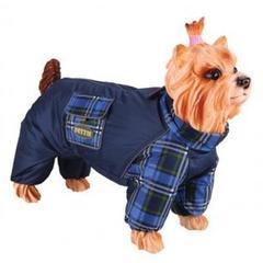 Комбинезон для собак, DEZZIE, пекинес - мальчик, болонья, синтепон с подкладкой
